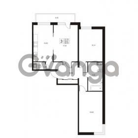 Продается квартира 3-ком 91.91 м² улица Катерников 1, метро Проспект Ветеранов