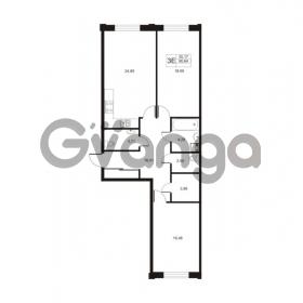 Продается квартира 2-ком 90.64 м² улица Катерников 1, метро Проспект Ветеранов