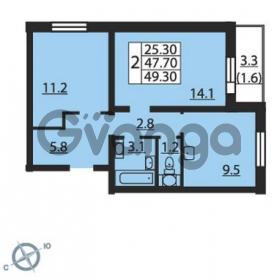 Продается квартира 2-ком 49 м² проспект Маршака 1, метро Гражданский проспект