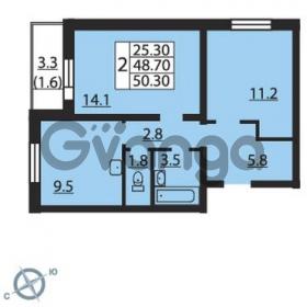 Продается квартира 2-ком 50 м² проспект Маршака 1, метро Гражданский проспект