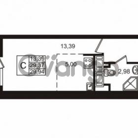 Продается квартира 1-ком 29 м² улица Катерников 1, метро Проспект Ветеранов