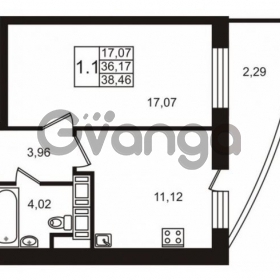 Продается квартира 1-ком 36 м² улица Катерников 1, метро Проспект Ветеранов