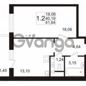 Продается квартира 1-ком 39 м² улица Катерников 1, метро Проспект Ветеранов