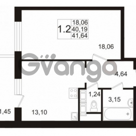 Продается квартира 1-ком 40 м² улица Катерников 1, метро Проспект Ветеранов