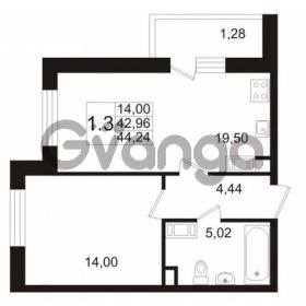 Продается квартира 1-ком 43 м² улица Катерников 1, метро Проспект Ветеранов