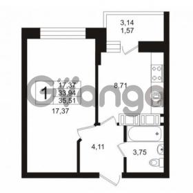 Продается квартира 1-ком 35 м² Кушелевская дорога 5к 5, метро Лесная