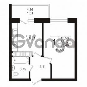 Продается квартира 1-ком 33 м² Кушелевская дорога 5к 5, метро Лесная