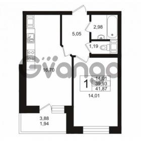 Продается квартира 1-ком 41 м² Кушелевская дорога 5к 5, метро Лесная