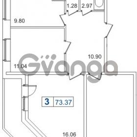Продается квартира 3-ком 70.42 м² Пулковское шоссе 40к 2, метро Звездная