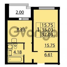 Продается квартира 1-ком 37 м² Парашютная улица 54, метро Комендантский проспект