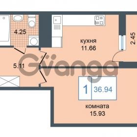 Продается квартира 1-ком 36.94 м² Дунайский проспект 7, метро Звёздная