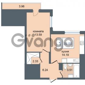 Продается квартира 1-ком 39.85 м² Дунайский проспект 7, метро Звёздная