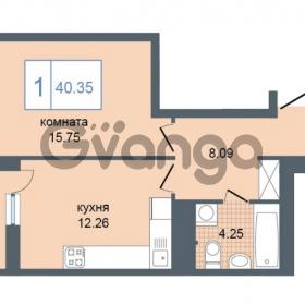 Продается квартира 1-ком 40.35 м² Дунайский проспект 7, метро Звёздная
