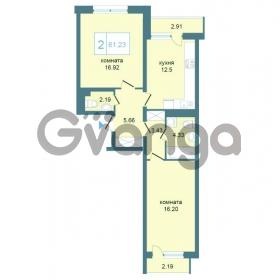 Продается квартира 2-ком 61.23 м² Дунайский проспект 7, метро Звёздная