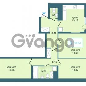 Продается квартира 3-ком 80.67 м² Дунайский проспект 7, метро Звёздная