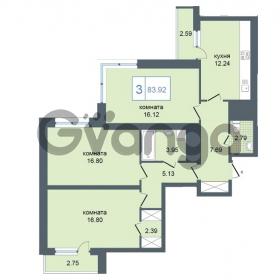 Продается квартира 3-ком 83.92 м² Дунайский проспект 7, метро Звёздная