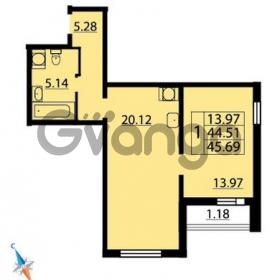 Продается квартира 1-ком 45 м² Парашютная улица 54, метро Комендантский проспект