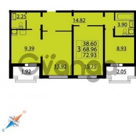 Продается квартира 3-ком 72 м² Парашютная улица 54, метро Комендантский проспект