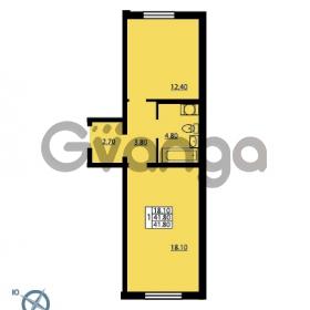 Продается квартира 1-ком 41.8 м² Южное шоссе 110, метро Международная