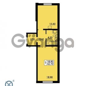 Продается квартира 1-ком 42.7 м² Южное шоссе 110, метро Международная