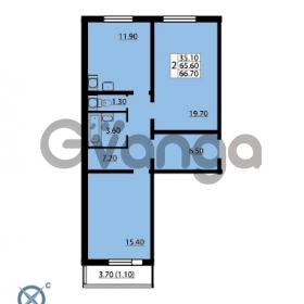 Продается квартира 2-ком 66.7 м² Южное шоссе 110, метро Международная