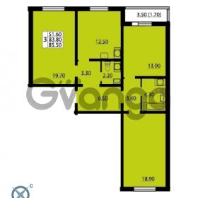 Продается квартира 3-ком 85.5 м² Южное шоссе 110, метро Международная