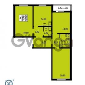 Продается квартира 3-ком 86.5 м² Южное шоссе 110, метро Международная
