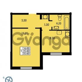 Продается квартира 1-ком 35.6 м² Южное шоссе 114, метро Международная