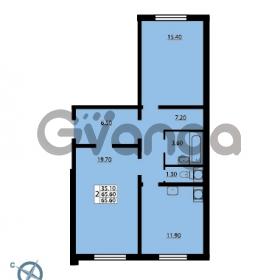 Продается квартира 2-ком 65.6 м² Южное шоссе 114, метро Международная