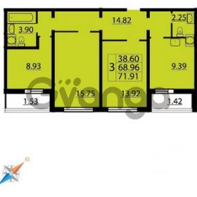 Продается квартира 3-ком 71 м² Парашютная улица 54, метро Комендантский проспект