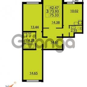 Продается квартира 3-ком 75 м² Парашютная улица 54, метро Комендантский проспект