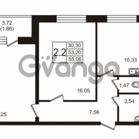 Продается квартира 2-ком 55.06 м² Советский проспект 42, метро Рыбацкое
