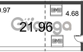 Продается квартира 1-ком 21.96 м² Воронцовский бульвар 1, метро Девяткино