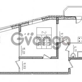 Продается квартира 2-ком 52.44 м² Воронцовский бульвар 1, метро Девяткино