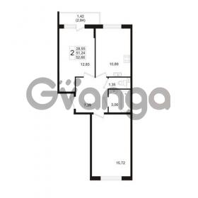Продается квартира 2-ком 51.24 м² Охтинская аллея 8, метро Девяткино