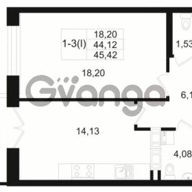 Продается квартира 1-ком 44.12 м² Малый пр. В.О. 64, метро Василеостровская