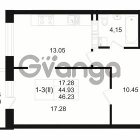 Продается квартира 1-ком 44.93 м² Малый пр. В.О. 64, метро Василеостровская