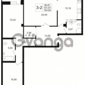 Продается квартира 3-ком 101.57 м² Малый пр. В.О. 64, метро Василеостровская