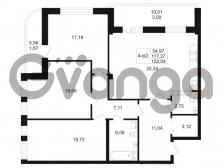 Продается квартира 3-ком 117.37 м² Малый пр. В.О. 64, метро Василеостровская