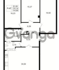 Продается квартира 3-ком 110.15 м² Малый пр. В.О. 64, метро Василеостровская