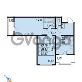 Продается квартира 2-ком 53.57 м² Парашютная улица 52, метро Комендантский проспект