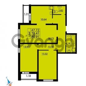 Продается квартира 3-ком 80.9 м² Парашютная улица 52, метро Комендантский проспект