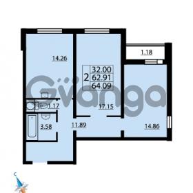 Продается квартира 2-ком 64.09 м² Парашютная улица 52, метро Комендантский проспект