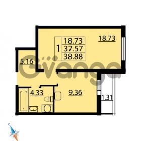 Продается квартира 1-ком 38.88 м² Парашютная улица 54, метро Комендантский проспект