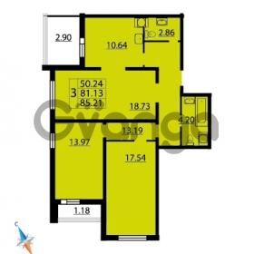 Продается квартира 3-ком 85.21 м² Парашютная улица 54, метро Комендантский проспект