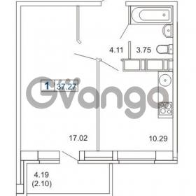 Продается квартира 1-ком 37.27 м² Кушелевская дорога 5к 5, метро Лесная