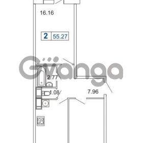 Продается квартира 2-ком 55.27 м² Кушелевская дорога 5к 5, метро Лесная