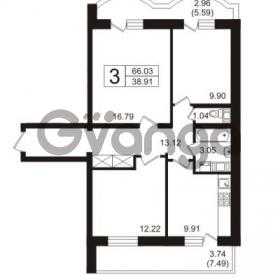 Продается квартира 3-ком 72.58 м² Полюстровский проспект 71, метро Лесная