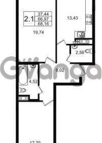 Продается квартира 2-ком 66 м² улица Мира 37, метро Петроградская