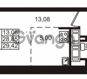 Продается квартира 1-ком 28 м² улица Катерников 1, метро Проспект Ветеранов